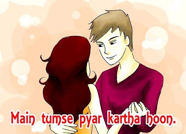 Prent getiteld sê ek hou van jou in Hindi Stap 01