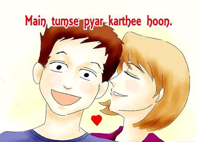Beeld getiteld sê ek hou van jou in Hindi Stap 04