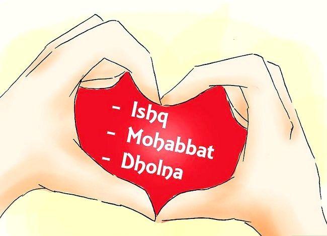 Beeld getiteld sê ek hou van jou in Hindi Stap 07