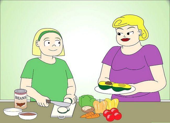 Prent getiteld Vertel jou ouers U wil `n Vegan of Vegetariese Stap 7 wees