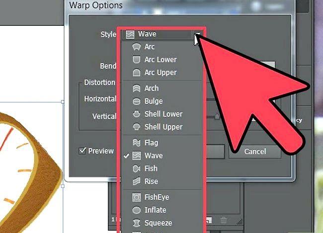 Beeld getiteld Warp an Object in Adobe Illustrator Stap 4
