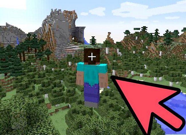 Prent getiteld Stop vlieg in Minecraft Stap 2