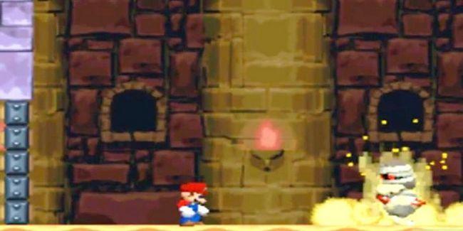 Prent getiteld Versla die baas in die laaste kasteel van die wêreld 2 As Mini Mario Stap 1