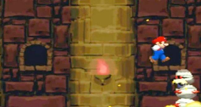 Prent getiteld Versla die baas in die laaste kasteel van die wêreld 2 as Mini Mario Stap 2