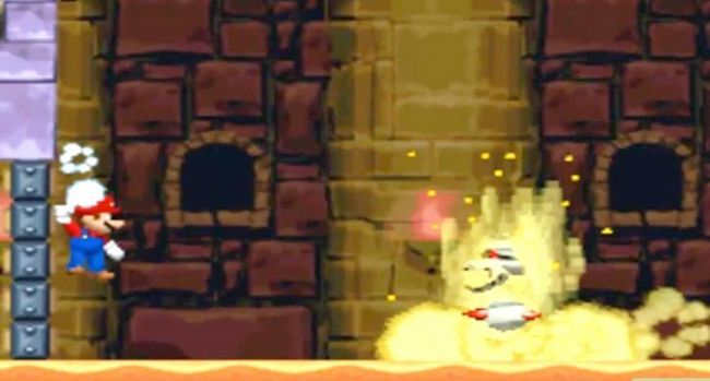 Prent getiteld Versla die baas in die laaste kasteel van die wêreld 2 as Mini Mario Stap 3