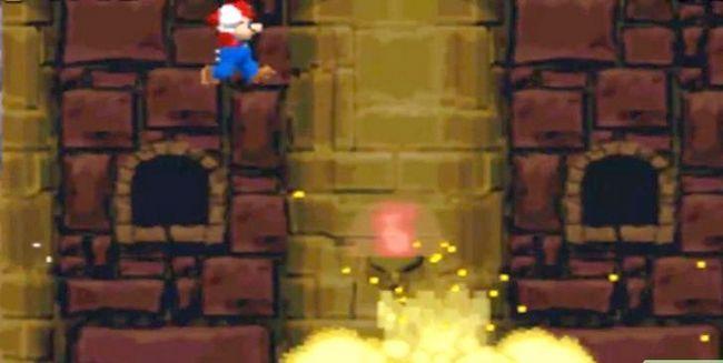 Prent getiteld Versla die baas in die laaste kasteel van die wêreld 2 as Mini Mario Stap 5