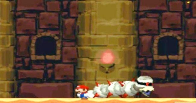 Prent getiteld Versla die baas in die laaste kasteel van die wêreld 2 As Mini Mario Stap 6