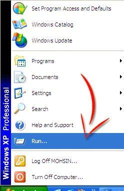 Prentjie met die titel Disable Right Click in Windows XP Stap 1