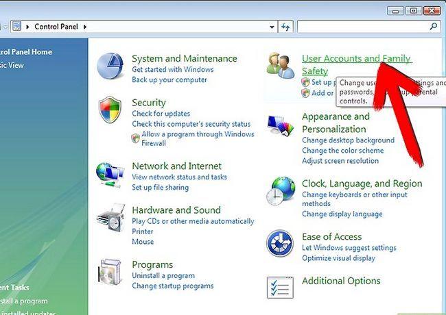 Prent getiteld afskakel gebruikers rekening beheer in Windows Vista stap 2