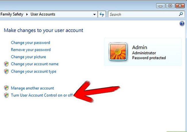 Prent getiteld afskakel gebruiker rekening kontrole in Windows Vista stap 4