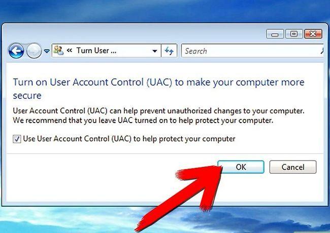 Prent getiteld afskakel gebruiker rekening kontrole in Windows Vista stap 6