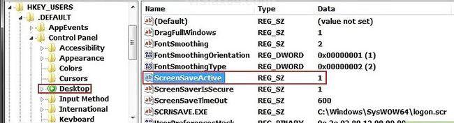 Beeld getiteld Inskakel Windows-aanmelding Screensaver Stap 4