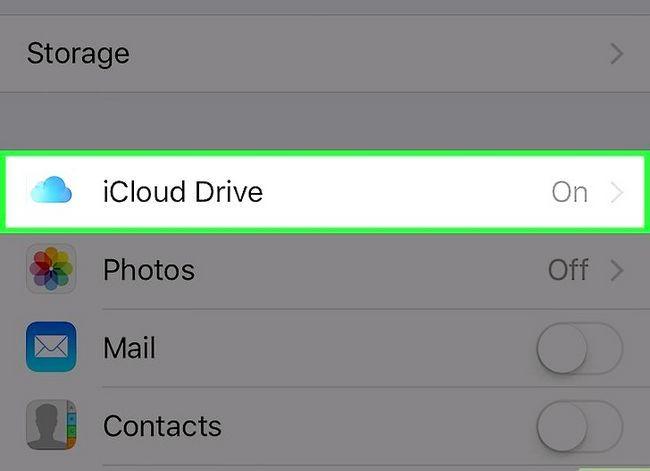 Prent getiteld Skakel af iCloud Drive op `n iPhone Stap 3