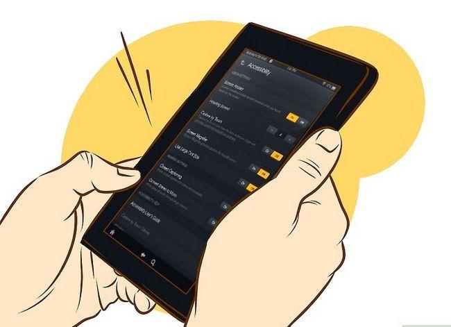 Prent getiteld Skakel stem uit op Kindle Vuur HD Stap 2