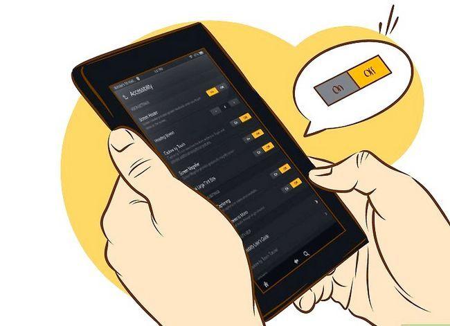 Prent getiteld Skakel stem uit op Kindle Vuur HD Stap 3