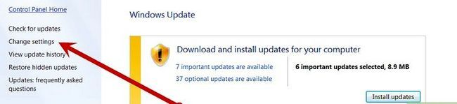 Prent getiteld Skakel Microsoft Updates Stap 4 af
