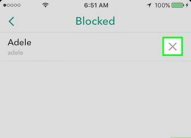 Prent getiteld Unblock Someone on Snapchat Stap 5