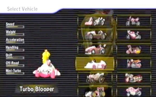 Prent getiteld Ontsluit die mediumfietse en karts in Mario Kart Wii Stap 1