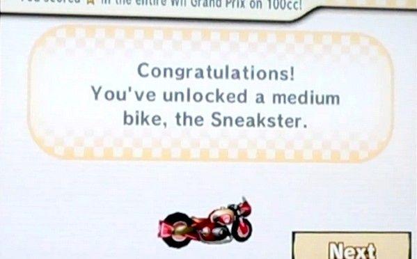 Prent getiteld Ontsluit die mediumfietse en karts in Mario Kart Wii Stap 6