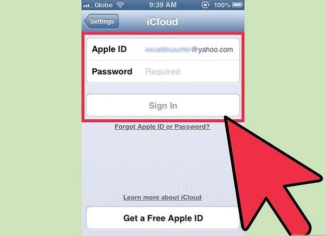 Prent getiteld Aflaai gekoopte programme Met iCloud Stap 1