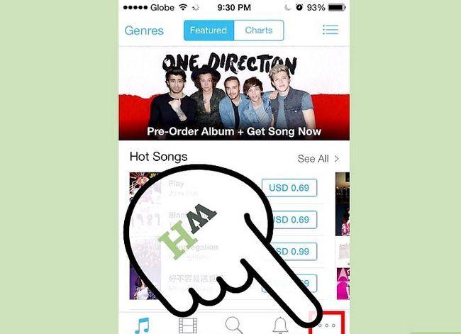 Prentjie-titel Aflaai iTunes-aankope na `n iPhone Stap 2
