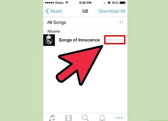 Prentjie-titel Aflaai iTunes-aankope na `n iPhone Stap 5