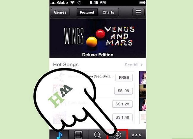 Prentjie-titel Aflaai iTunes-aankope na `n iPhone Stap 7