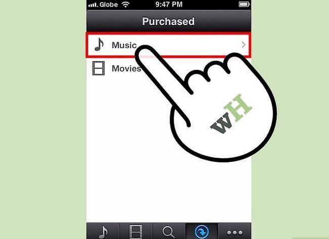 Prentjie-titel Aflaai iTunes-aankope na `n iPhone Stap 8