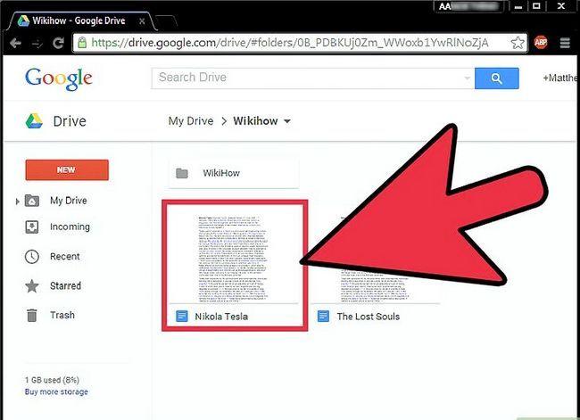 Prent getiteld Laai Google Docs Stap 3 af