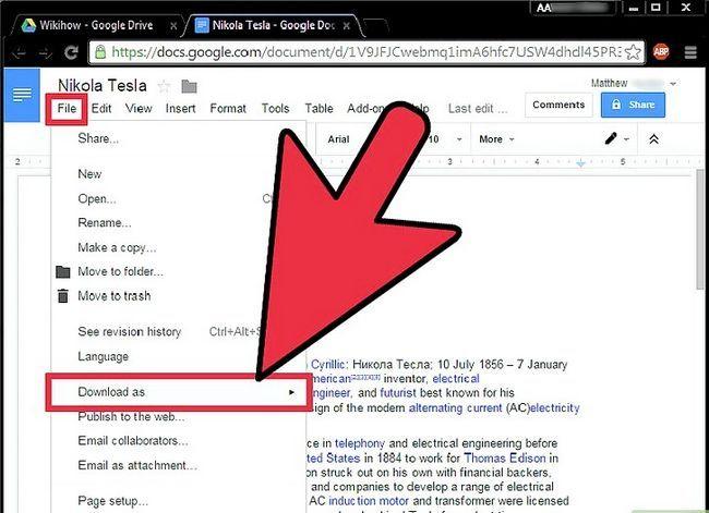Prent getiteld Laai Google Docs Stap 4 af
