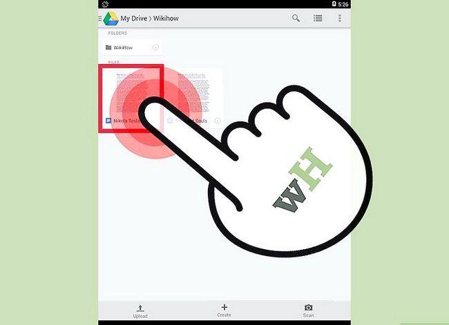 Prent getiteld Laai Google Docs Stap 7 af