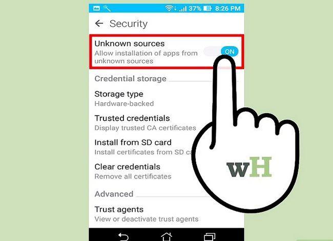 Prent getiteld Laai die Google Play App Store Stap 1 af
