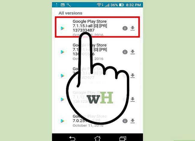 Prent getiteld Laai die Google Play App Store Stap 2 af