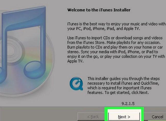 Prent getiteld Download iTunes Stap 6