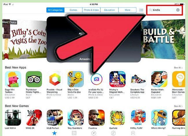 Prent getiteld Download Kindle Books op `n iPad Stap 2