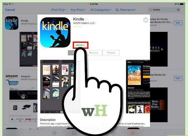 Prent getiteld Download Kindle Books op `n iPad Stap 3