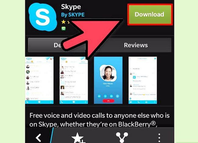 Prent getiteld Skype aflaai op BlackBerry Stap 6