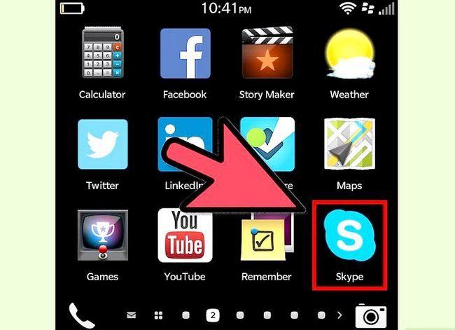 Prent getiteld Skype aflaai op BlackBerry Stap 7