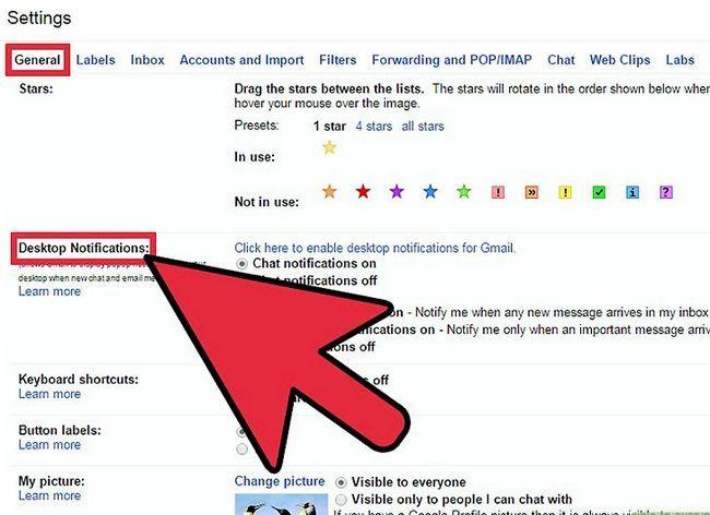 Prent getiteld Geskakel Gmail Desktop Notifications Stap 2