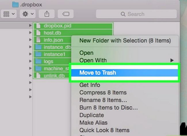 Prent getiteld Dropbox verwyder vanaf `n Mac Stap 11