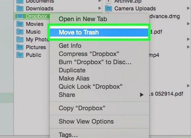 Prent getiteld Dropbox verwyder vanaf `n Mac Stap 4