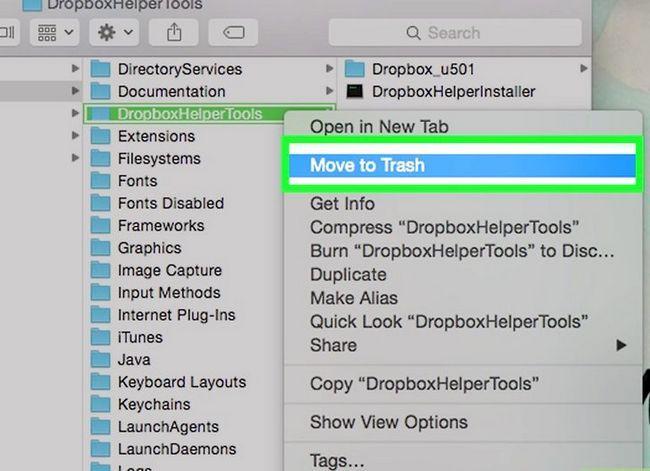 Prent getiteld Dropbox verwyder vanaf `n Mac Stap 8