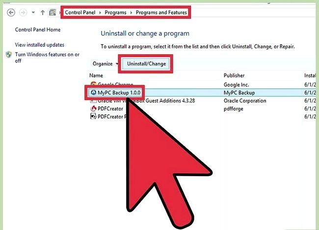 Prent getiteld Uninstall MyPC Backup Stap 4
