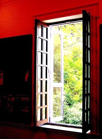 Prent getiteld Die oop venster deur`H.H.Munro `Saki`