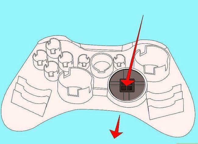 Prent getiteld Ontkoppel `n wireless Xbox 360-kontroleerder vir die skildery van stap 10
