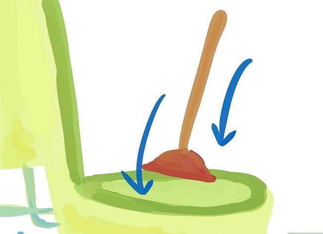 Prent getiteld `n toilet van `n gespoelde toiletpapierrol verwyder. Stap 2