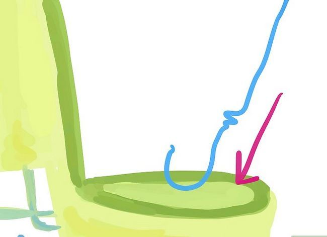 Prent getiteld `n toilet van `n gesproeerde toiletrol papier verwyder. Stap 6
