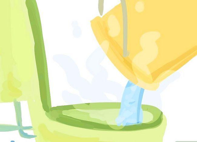 Prent getiteld `n toilet van `n gespoelde toiletpapier rol los Stap 9