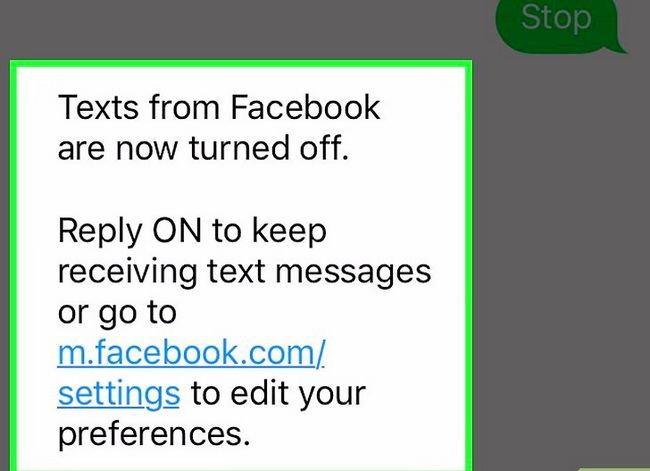 Prent getiteld Stop Facebook tekste Stap 5