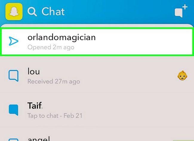 Prent getiteld Vertel as iemand jou boodskappe op Snapchat Stap 3 gestoor het